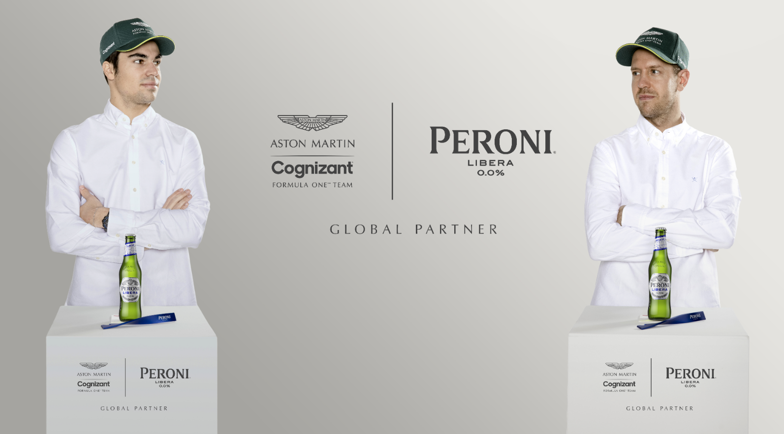 Peroni Libera 0.0% en het Aston Martin Cognizant Formula One™️ team kondigen meerjarig partnerschap aan