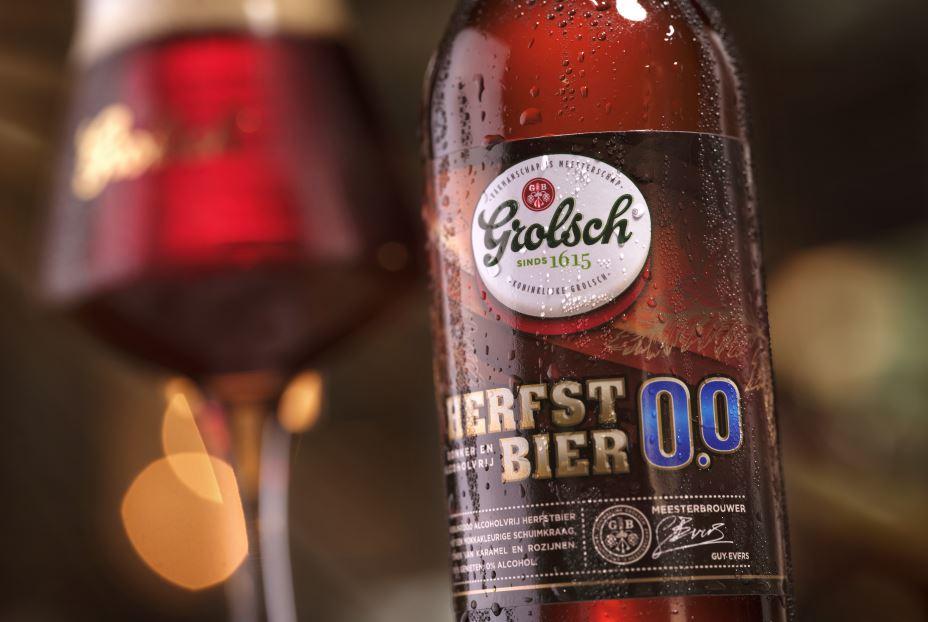 Marktleider Grolsch introduceert donker alcoholvrij speciaalbier: Herfstbier 0.0%