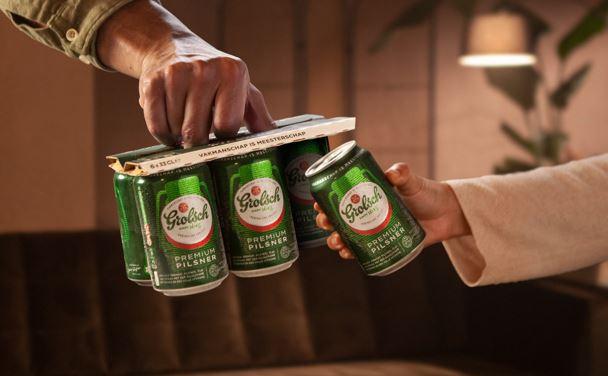 Bierbrouwer Grolsch zet nieuwe norm met kartonnen blikverpakking in bier